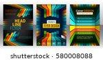 abstract stripes vector... | Shutterstock .eps vector #580008088