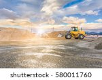 quarry aggregate with heavy... | Shutterstock . vector #580011760
