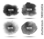 set of dark gray black... | Shutterstock .eps vector #580016836