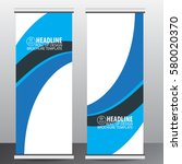 roll up banner stand template... | Shutterstock .eps vector #580020370