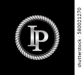 initial i and p logo silver... | Shutterstock .eps vector #580021270