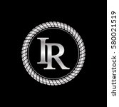 initial i and r logo silver...   Shutterstock .eps vector #580021519