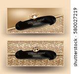 elegant luxury event banners...   Shutterstock .eps vector #580027219