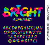 vector bright set of letters ... | Shutterstock .eps vector #580029424