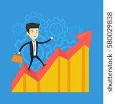 asian successful business man... | Shutterstock .eps vector #580029838