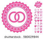 wedding rings stamp icon with... | Shutterstock .eps vector #580029844