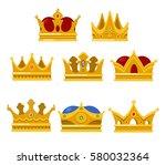 king headdress or pope tiara ... | Shutterstock .eps vector #580032364
