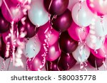 colourful balloons  pink  white ... | Shutterstock . vector #580035778