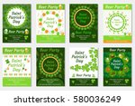 collection of st. patrick s day ... | Shutterstock .eps vector #580036249
