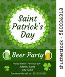 happy st. patrick s day... | Shutterstock .eps vector #580036318