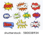 comic sound speech effect... | Shutterstock .eps vector #580038934