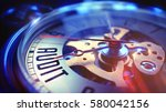 audit. on vintage pocket clock... | Shutterstock . vector #580042156