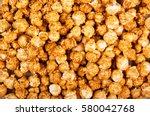golden caramel popcorn closeup. ...   Shutterstock . vector #580042768