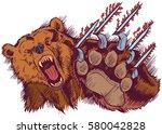 vector cartoon clip art...   Shutterstock .eps vector #580042828
