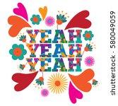 sixties style mod pop art... | Shutterstock .eps vector #580049059