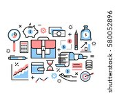 personal financial analytics ...   Shutterstock .eps vector #580052896