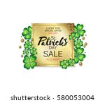 saint patrick's day sale banner ... | Shutterstock .eps vector #580053004