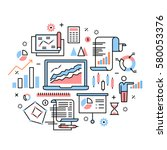 business analytics  data... | Shutterstock .eps vector #580053376