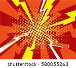 vector halftone pop art comic... | Shutterstock .eps vector #580055263