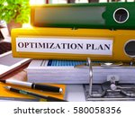 optimization plan   yellow... | Shutterstock . vector #580058356