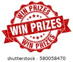 win prizes. stamp. sticker.... | Shutterstock .eps vector #580058470