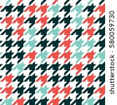 hounds tooth   colorful... | Shutterstock .eps vector #580059730