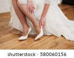 bride dresses elegant beige... | Shutterstock . vector #580060156