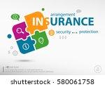 insurance protection info word...   Shutterstock .eps vector #580061758