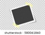 square frame template on sticky ... | Shutterstock .eps vector #580061860