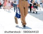 paris july 6  2015. vogue japan ... | Shutterstock . vector #580064410
