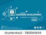 business development related...   Shutterstock .eps vector #580064644