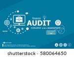 audit related words and... | Shutterstock .eps vector #580064650