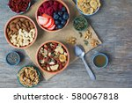 paleo style breakfast  gluten... | Shutterstock . vector #580067818