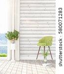 modern bright interior . 3d... | Shutterstock . vector #580071283