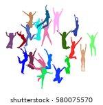 team achievement win win  | Shutterstock .eps vector #580075570