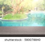 Table Top And Blur Swimming...