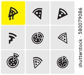 pizzas icons | Shutterstock .eps vector #580079086