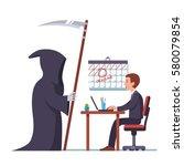 business project deadline... | Shutterstock .eps vector #580079854