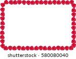 rose frame on white background. | Shutterstock . vector #580080040