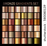 bronze gold gradients.... | Shutterstock .eps vector #580080139