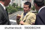 fearful business man | Shutterstock . vector #580080244