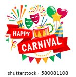 happy carnival festive concept... | Shutterstock . vector #580081108