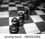 chess board with chess   Shutterstock . vector #580081888