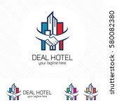 property deal logo design... | Shutterstock .eps vector #580082380