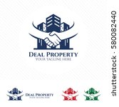 property deal logo design... | Shutterstock .eps vector #580082440