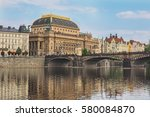 Cityscape Of Prague With...