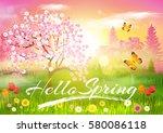 Spring. Background. Hello...