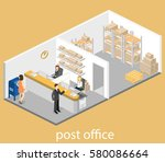isometric flat 3d interior of...