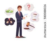 sad broken businessman standing ... | Shutterstock .eps vector #580088026