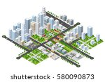 megapolis 3d isometric | Shutterstock . vector #580090873